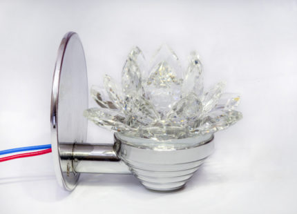 Светильник-лотос серебряный